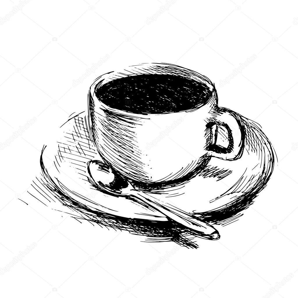 Tazza Di Caffè Disegno A Mano Vettoriali Stock Onot 62423061