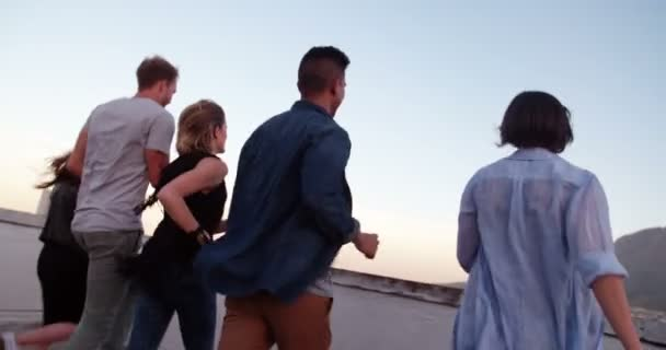 After work rooftop party for hipster friends