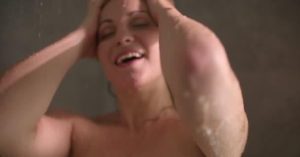 Female Enjoying Shower