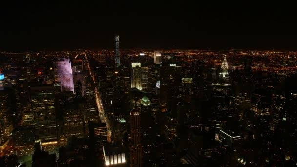 Časová prodleva v New Yorku v noci