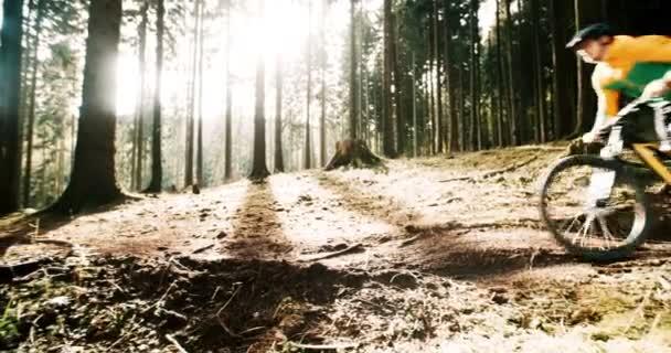 Mountain Biker na lesní