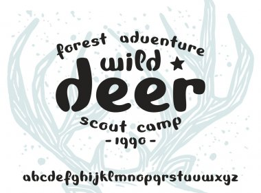Stock vector handwritten font lowercase