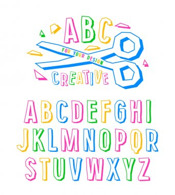 Stock vector creative alphabet