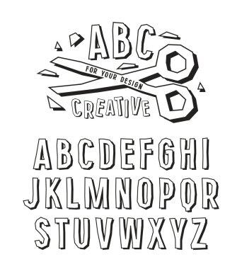 Stock vector creative alphabet