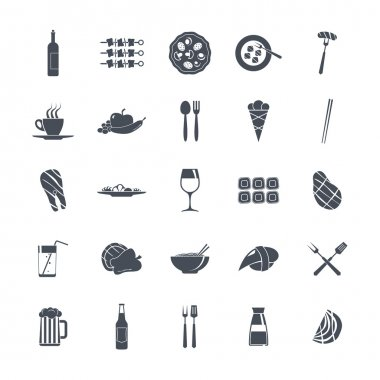 Icon set summer  food