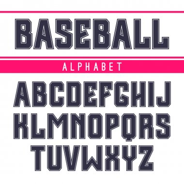 Sans serif font in the sport style