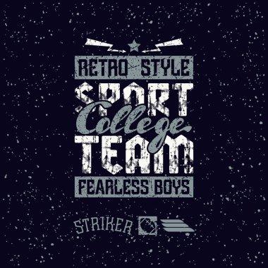 College sport team emblem