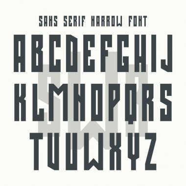 Bold sans serif font in retro style