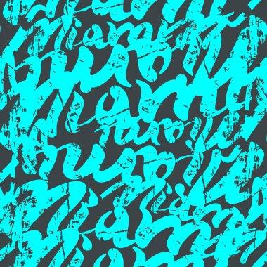 Seamless pattern graffiti Miami