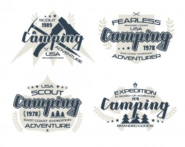 Camping emblems  for t-shirt