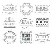 Sada štítků pro produkty ekologického zemědělství