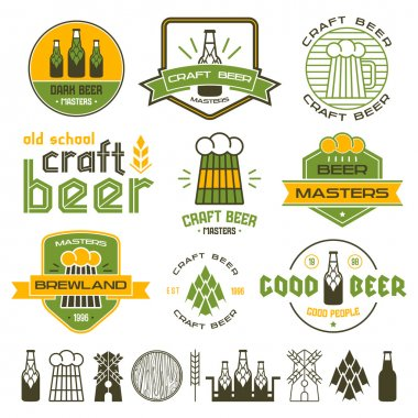 Craft beer brewery emblems