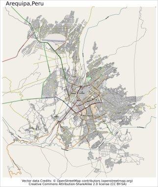 Arequipa Peru city map