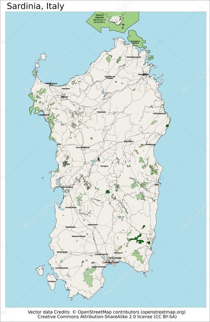 Carte Italie Et Sardaigne.Carte De L Ile Italie Sardaigne Image Vectorielle Jrtburr C 66540443
