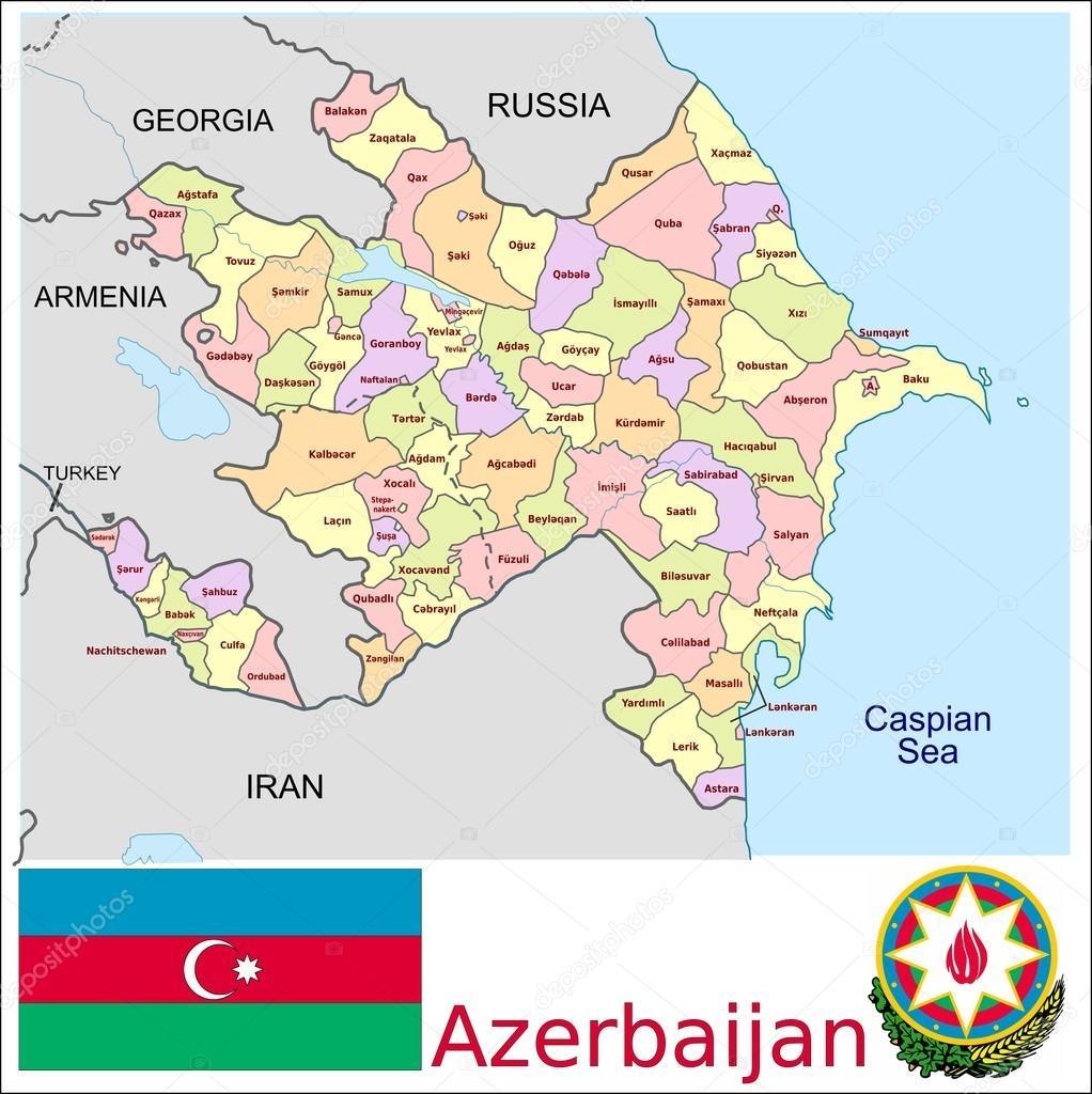 Azerbaijan Administrative divisions Stock Vector JRTBurr 69762809