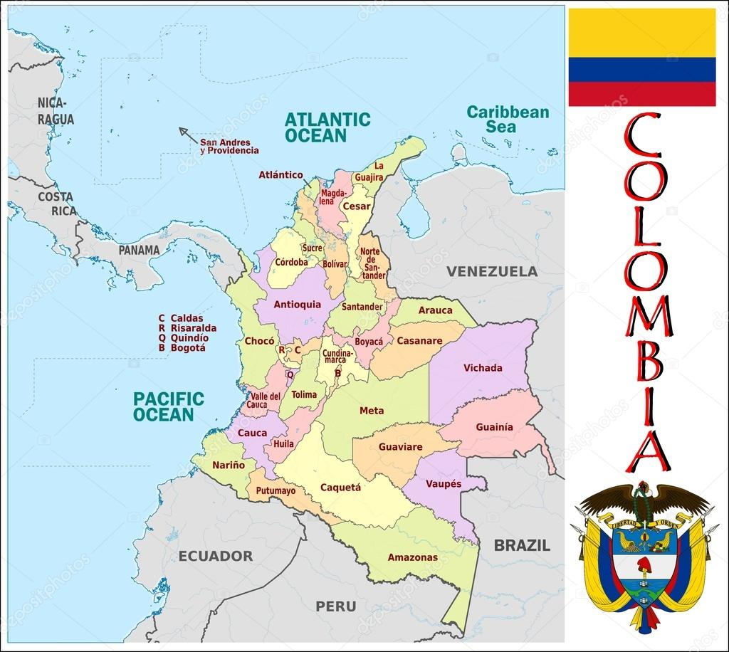 Colombia Administrative divisions Stock Vector JRTBurr 69763405