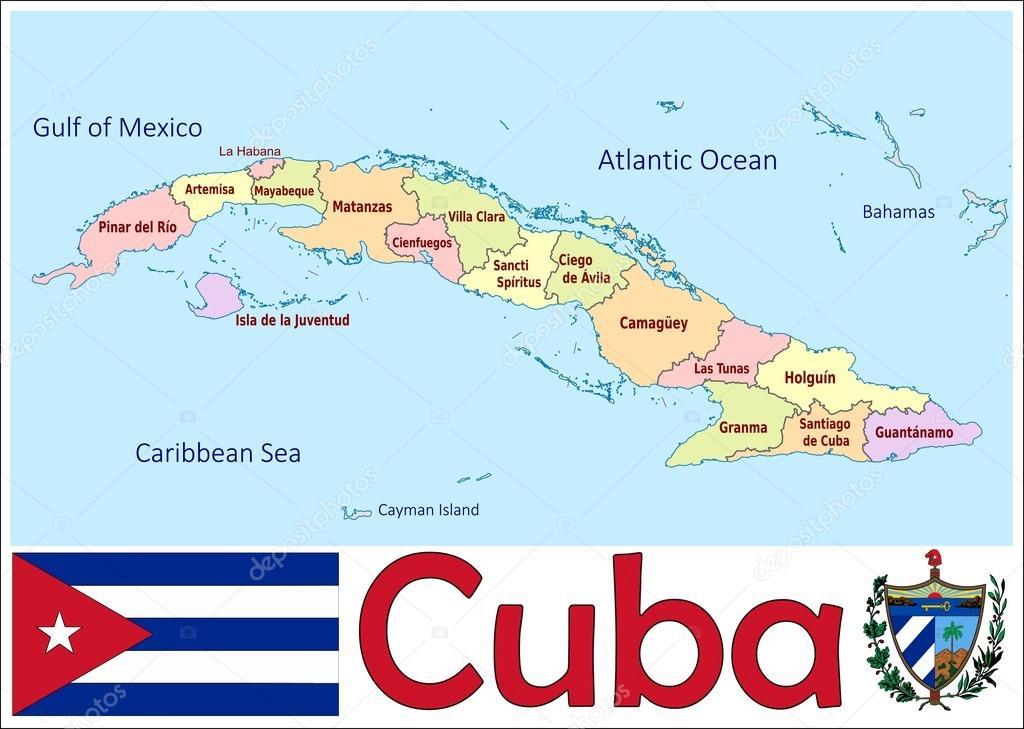 キューバの行政区画 — ストック...