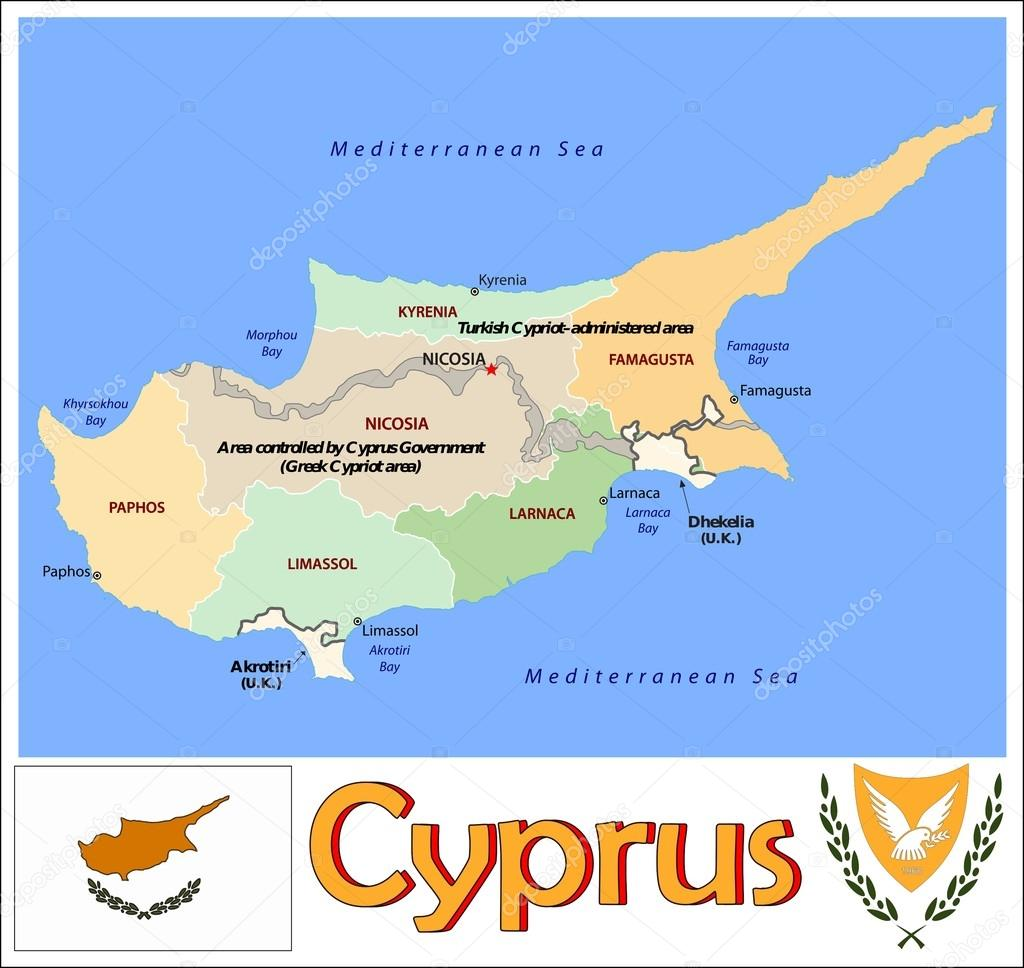 Cyprus Administrative divisions Stock Vector JRTBurr 69763441