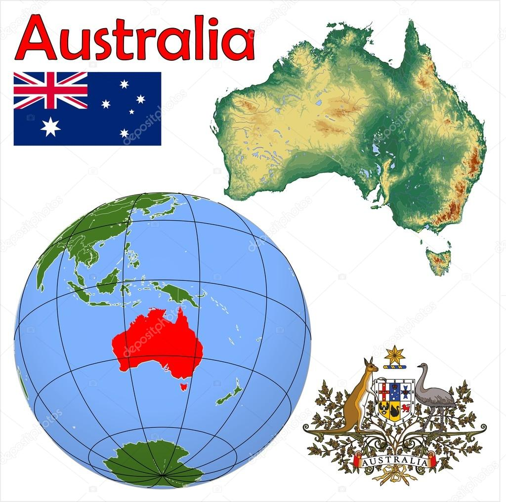 Australia location map Stock Vector JRTBurr 85969404