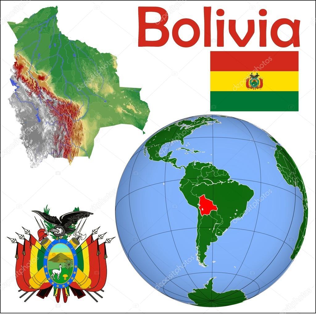 Bolivia Location Map Stock Vector C Jrtburr 85969460