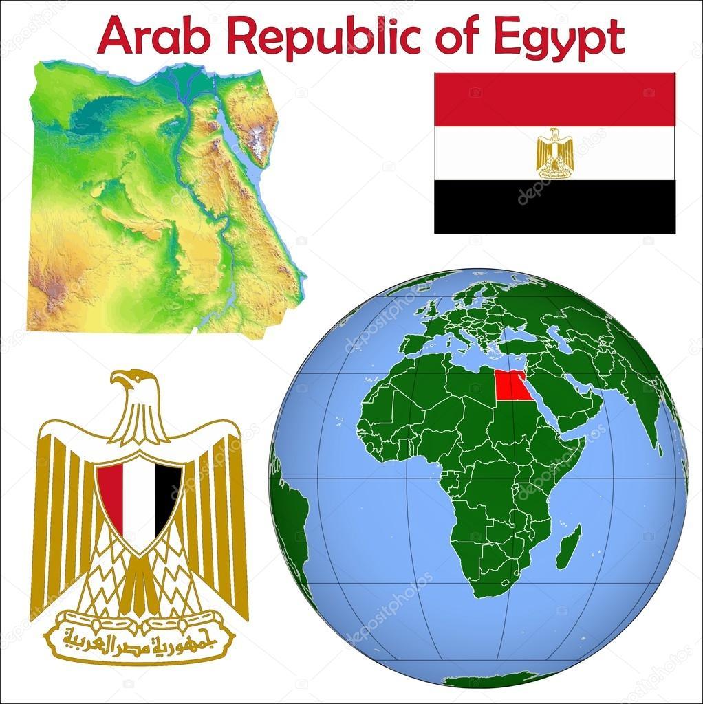 Egypt Globe Location Map Stock Vector JRTBurr - Map of egypt location