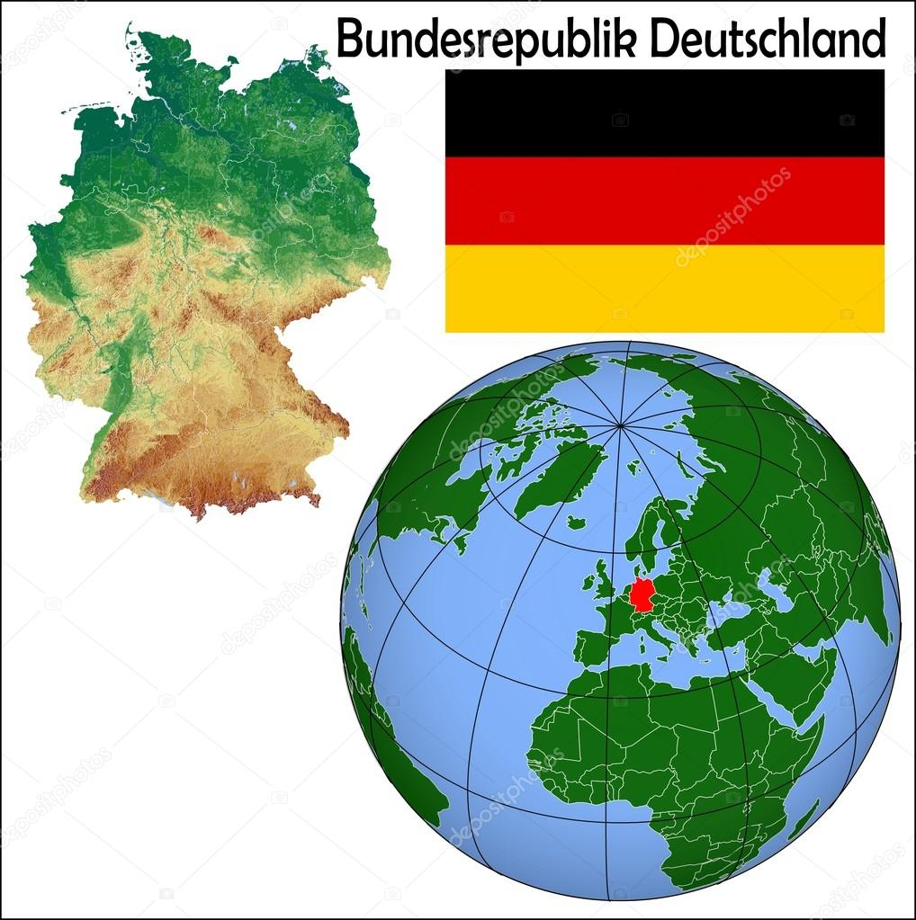 Germany Globe Location Map Stock Vector JRTBurr - Germany map location