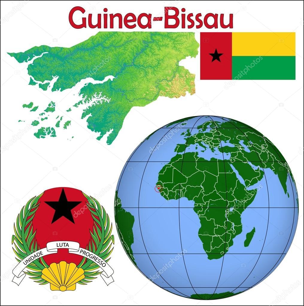 Guinea Bissau globe location map Stock Vector JRTBurr 85970000