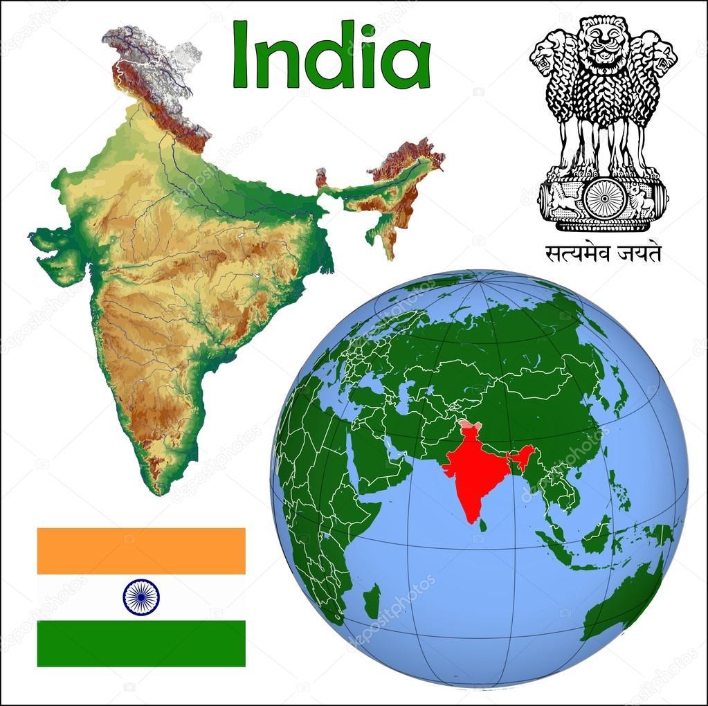 Resultado de imagem para mapa da india