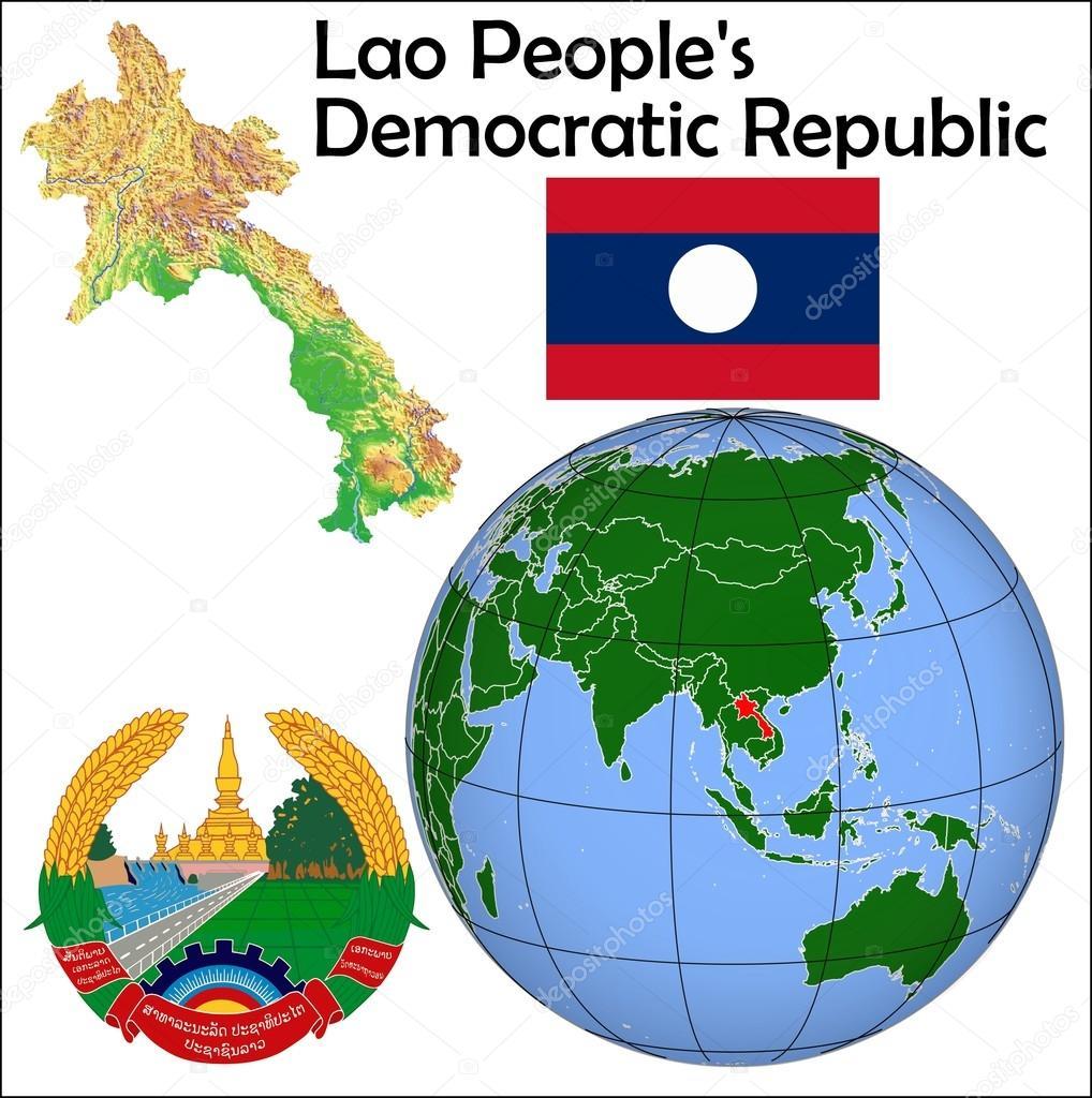 Picture of: Laos Location Map Stock Vector C Jrtburr 85970094