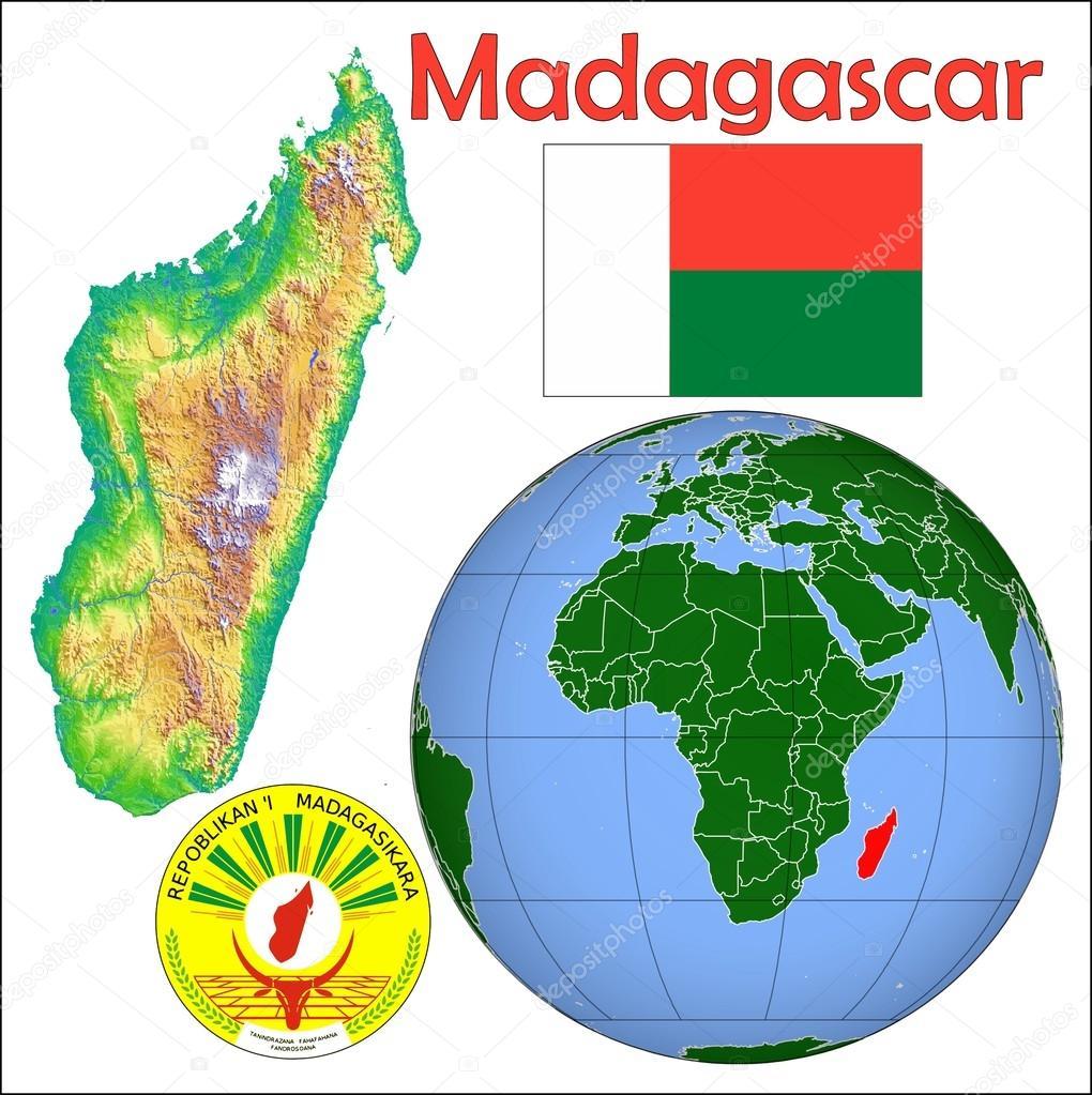 Madagascar Location Map Stock Vector C Jrtburr 85970132
