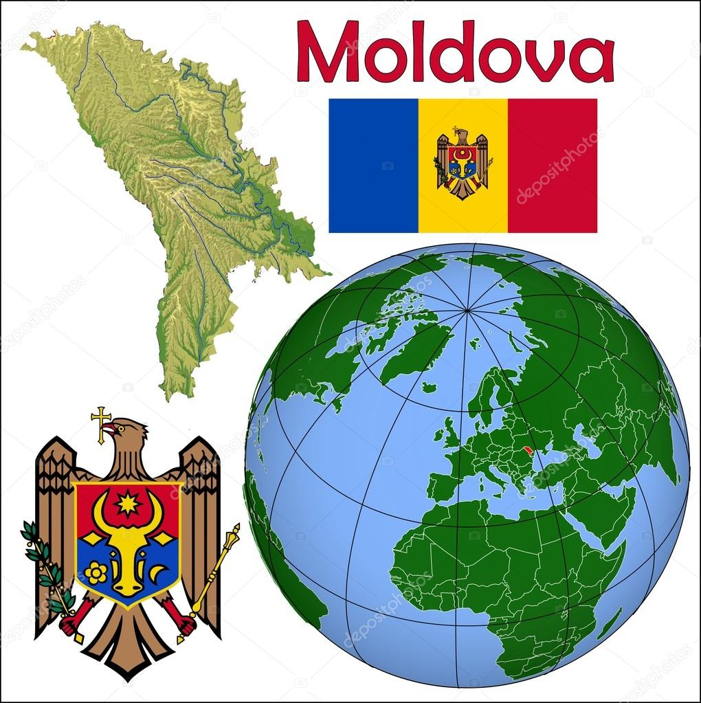 Moldova location map Stock Vector JRTBurr 85970174