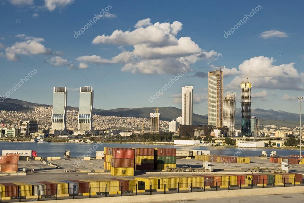 Izmir View With Folkart Towers Stock Editorial Photo