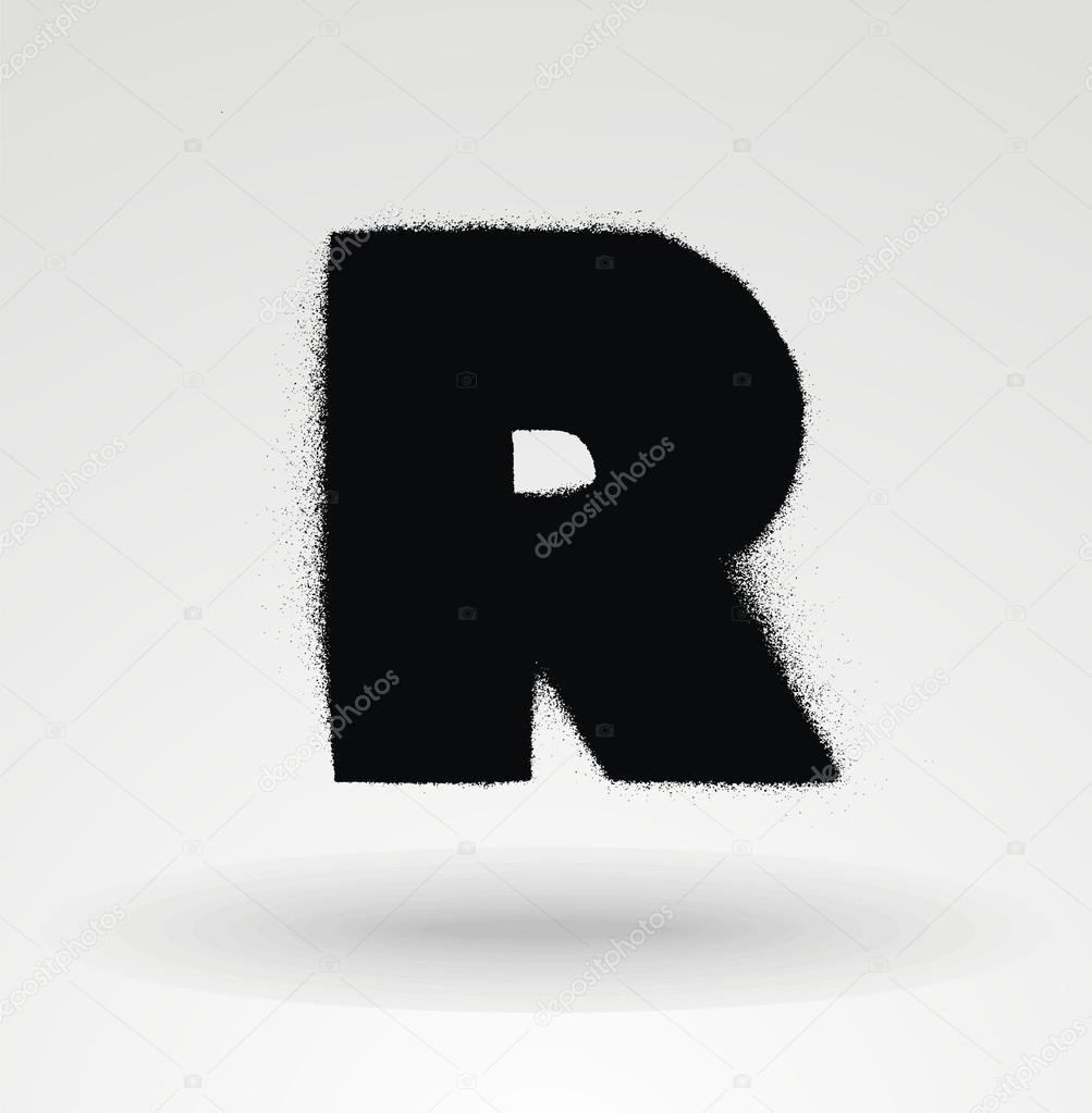 Stencil Spray Paint Font Detailed Vector Alphabet Stock
