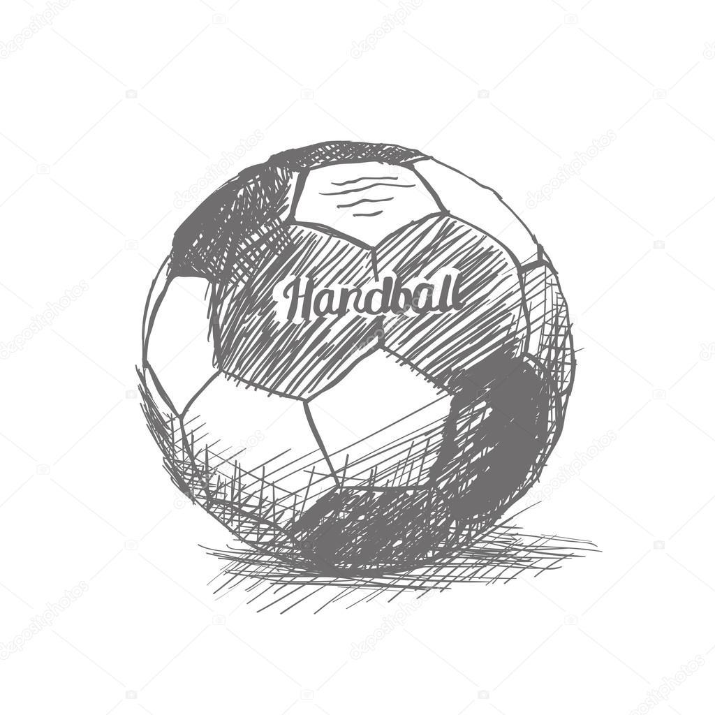 мяч гандбол рисунок