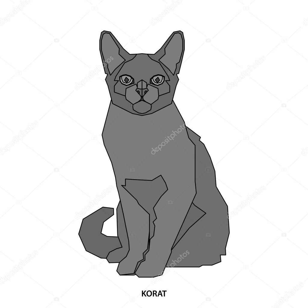 Kot Rasa Ilustracji Wektorowych Grafika Wektorowa