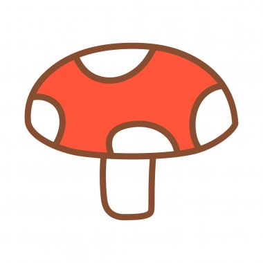 Isolated mushrooms icon. Vegetable icon - Vector illustration icon