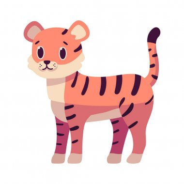 Isolated cartoon of a tiger - Vector illustration icon