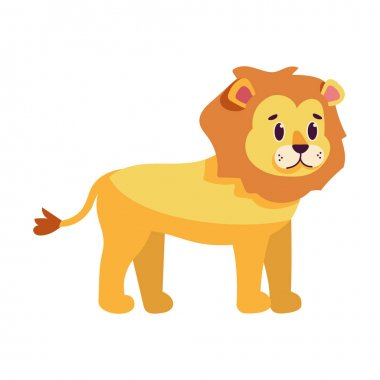 Isolated cartoon of a lion - Vector illustration icon