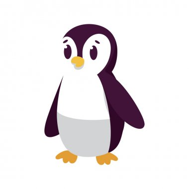 Isolated cartoon of a penguin - Vector illustration icon