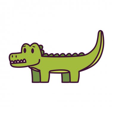 Isolated cartoon of a crocodile - Vector illustration icon