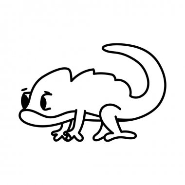 Isolated cartoon of a chameleon - Vector illustration icon