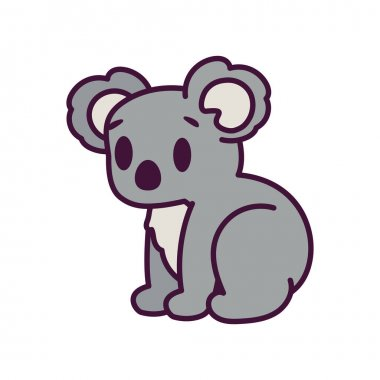Isolated cartoon of a koala - Vector illustration icon