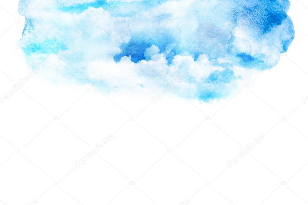雲と空の水彩イラスト ストック写真 Noppanun 123928190