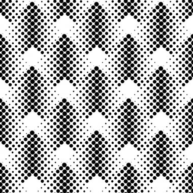 Black and white geometric seamless pattern with circle, abstract