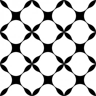 Black and white geometric seamless pattern modern stylish, abstract background.