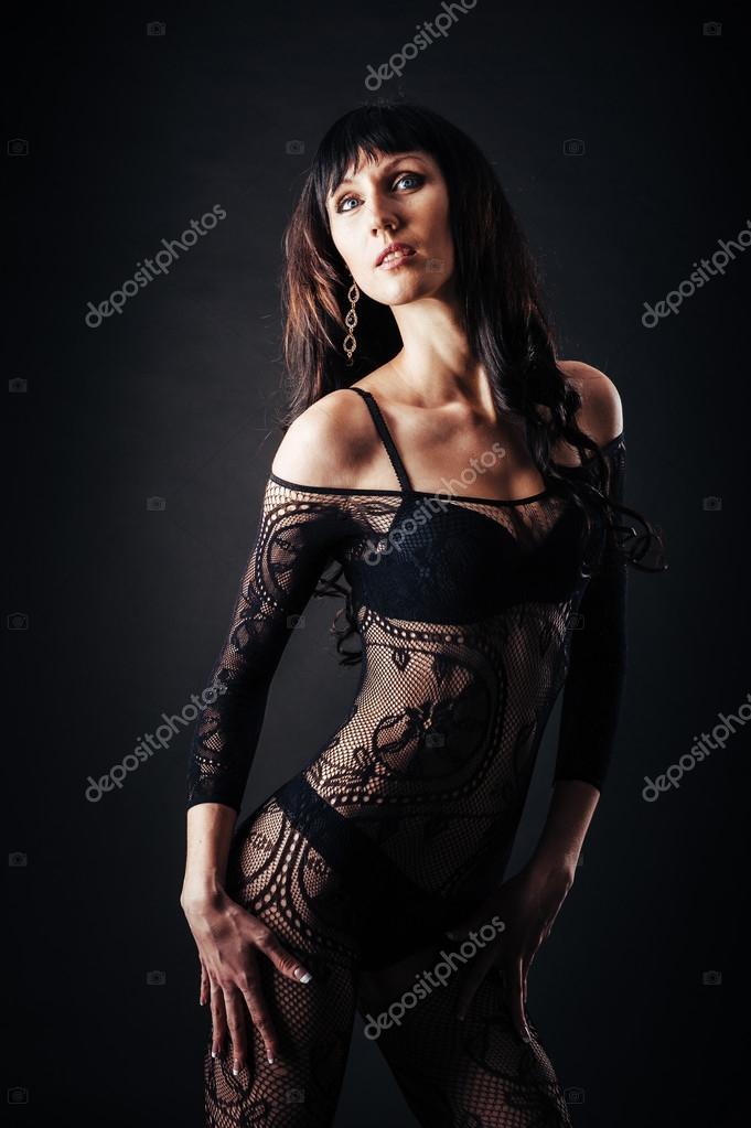 sexig svart naken kvinna