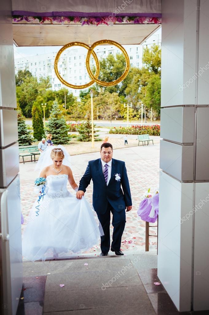 Hochzeitszeremonie Standesamt Ein Paar Unterzeichnet Das Ehe