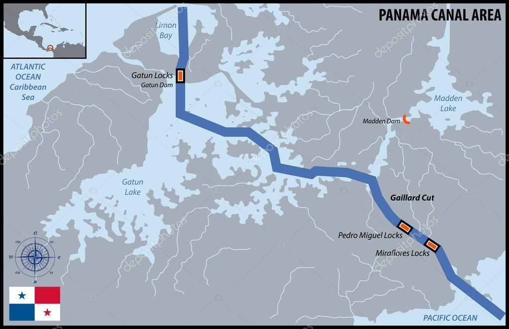 Panama Canal Area Stock Vector C Pablofdezr1984 100404754