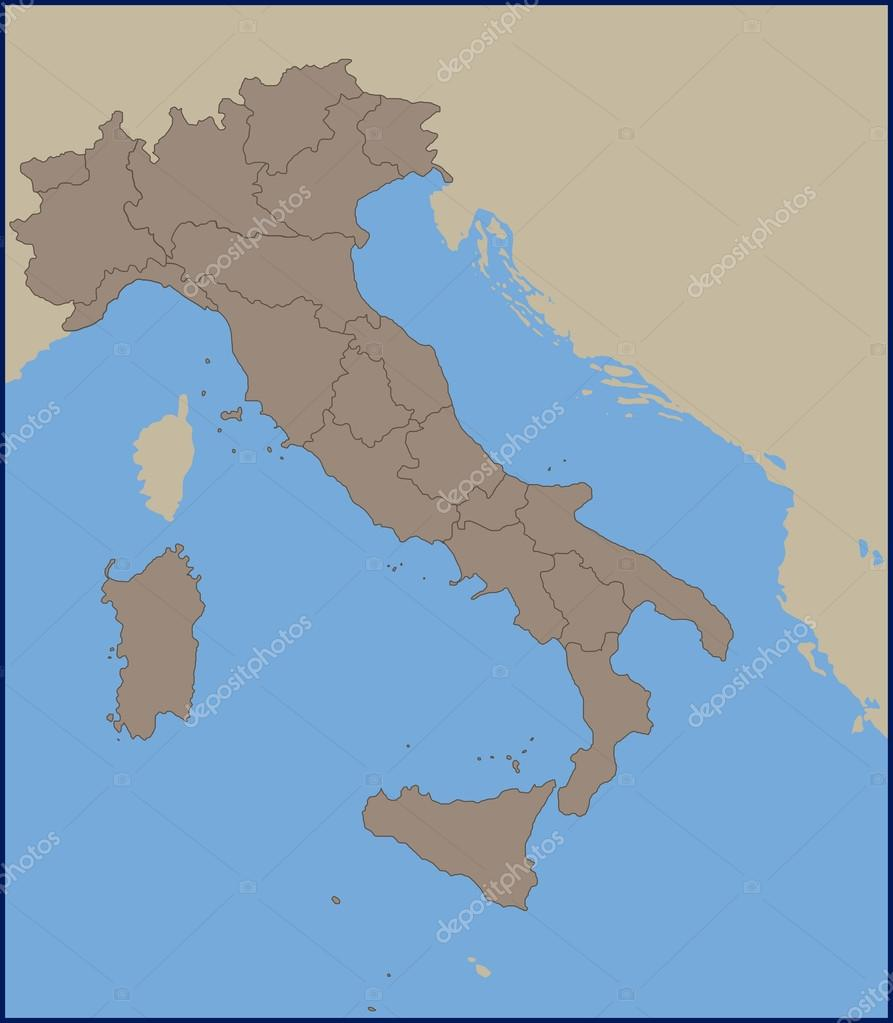 Empty political map of italy stock vector pablofdezr1984 empty political map of italy stock vector gumiabroncs Image collections