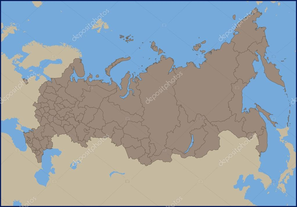 Empty Political Map of Russia — Stock Vector © pablofdezr1984 #111905852